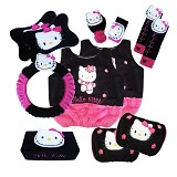 NEWGROSIR Bantal Mobil 8 in 1 Ext Hello Kitty Black [BM8EXT22] - Organizer Mobil